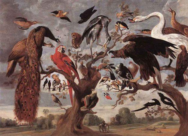 Kessel,_Jan_van,_Senior_-_The_Mockery_of_the_Owl_-_17th_century